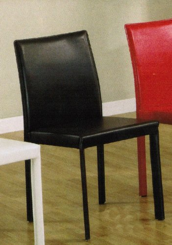 black friday set of 4 dining metal chairs chocolate leather like sale
