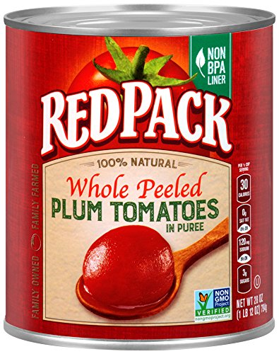 Redpack Whole Peeled Plum Tomatoes in Puree, 28oz Can (Pack of 12) (Canned Plum Tomatoes compare prices)