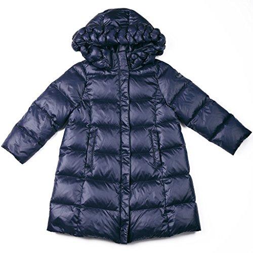 Oceankids Baby Mädchen Blau Knielange Daunenjacke / Mantel mit Reißverschluss 7-8 Jahre