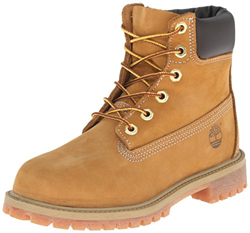 Timberland - Stivali 6 In Classic Boot FTC_6 In Premium WP Boot, Unisex - bambino, Marrone (Braun (Wheat Nubuck)), 39
