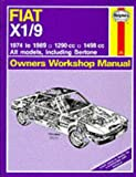 Fiat X1/9 1974-89 Owner's Workshop Manual J.H. Gilmour, Bruce Haynes