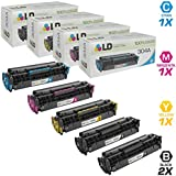 LD © Remanufactured Replacement for Hewlett Packard (HP) Color LaserJet CM2320 Set of 5 Color Toner Cartridges: 2 CC530A Black and 1 of each CC531A Cyan, CC533A Magenta, and CC532A Yellow for use in the LaserJet CM2320fxi, CM2320n, CM2320nf, CP2025dn, CP2025n & CP2025x Printers