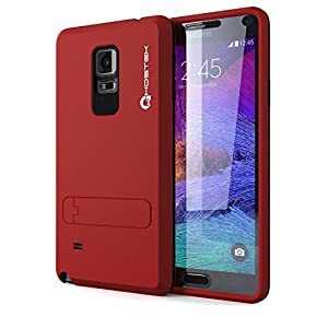 Note 4 Case, Ghostek Bullet Red Samsung Galaxy Note 4 Case W/ Note 4 Screen Protector - Lifetime Warranty - Slim Armor 4 Layer Protective Fitted Smooth Cover Case for Galaxy Note 4 GHOCAS210