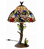 Warehouse of Tiffany - 2649LS+BB741 : Tiffany-style Floral Butterfly Table Lamp