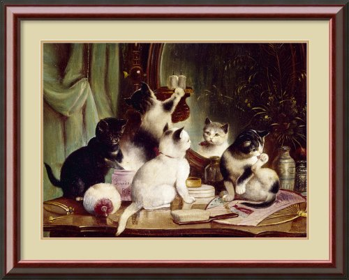 Kittens On The Vanity Table, By J. Hartung Framed front-965516