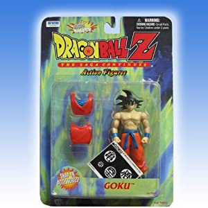 "Dragonball Z 5"" GOKU w/SNAP-ON SHIRT (THE SAGA CONTINUES) - EARLY IRWIN TOYS"