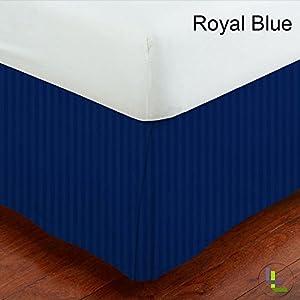 brightlinen 1pcs box pleated bed skirt royal