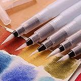 Hatori Nylon Hair Slob Proof Plastic Syringe Paint Pen Touch-up Walls Paintbrush (White)