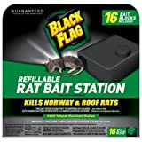 Black Flag 11057 Refillable Rat Bait Station With 16 Baits Blocks