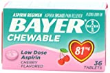 Bayer Chewable Low Dose Aspirin Cherry 81 Mg 36-Count