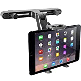 Macally HRMOUNT Adjustable Car Seat Headrest Mount and Holder for iPad, Samsung, and 7