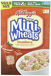Kellogg\'s Frosted Mini Wheats Bite Size Strawberry Delight 21-ounce (Pack of 4)
