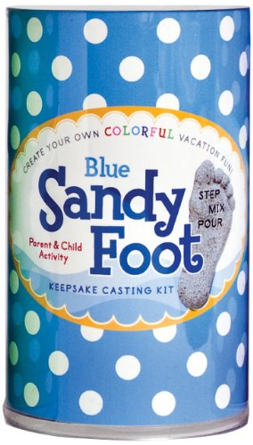 Spots and Ladybugs, LLC Sandy Foot Colorful Casting Kit - Blue Blue
