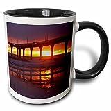 Danita Delimont - Piers - New Brighton Pier, Christchurch, South Island New Zealand-AU02 DWA5219 - David Wall - 11oz Two-Tone Black Mug (mug_74399_4)