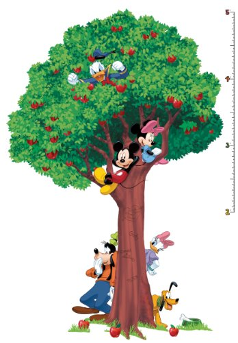 Roommates Mickey And Friends Peel And Stick Growth Chart , Multi Color