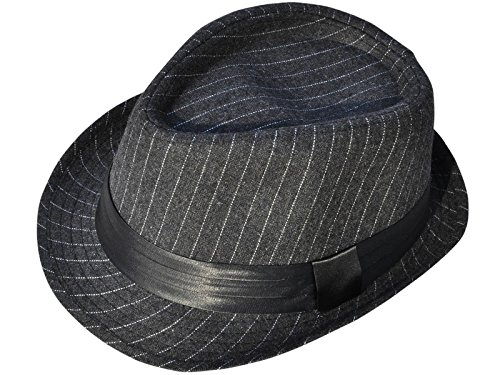 ashopz-unisex-teardrop-dent-pinstriped-short-brim-fedora-hat-charcoal-grey