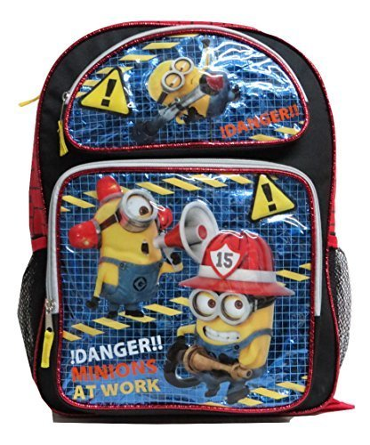 Backpack-Despicable-Me-Large-Full-Size-16-School-Bag-Danger-Minion-At-Work