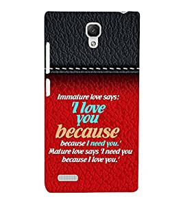 Love And Emotions Quotes from Heart 3D Hard Polycarbonate Designer Back Case Cover for Xiaomi Redmi Note :: Xiaomi Redmi Note 4G