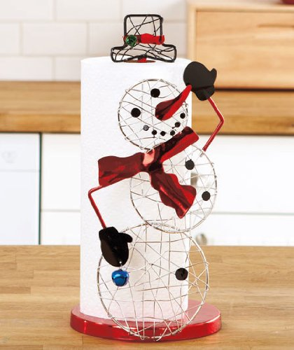 Decorative Holiday Paper Towel Holder