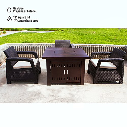 XtremepowerUS-Out-door-Patio-Heaters-LPG-Propane-Fire-Pit-Table-Hammered-Bronze-Steel-Finish