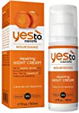 YES to Carrots Nourishing Repairing Night Cream (50ml, Paraben Free, 99% Natural)