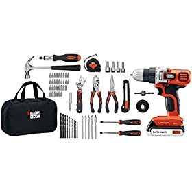 BLACK+DECKER LDX120PK 20-Volt MAX Lithium-Ion Drill and Project Kit