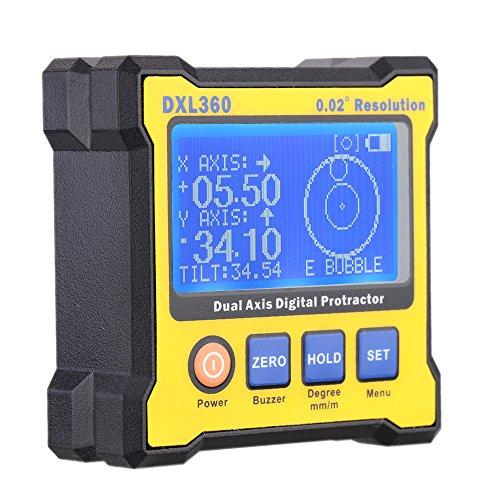 KKmoon-DXL360-Zwei-Achsen-Digital-Winkel-Winkelmesser-mit-5-Seite-Magnetischen-Basis-Hochprziser-Zweiachsige-Digitalanzeige-Level-100-240V-50-60Hz