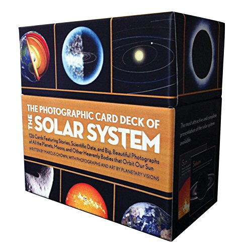 The Photographic Card Deck of the Solar System: 126 Cards Featuring Stories, Scientific Data, and Big Beautiful Photographs of All the Planets, Moons, and Other Heavenly Bodies That Orbit Our Sun