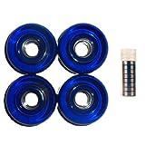 4 Blue Pro Longboard Wheels 70mm 80a Skateboard Deck W  Abec 7 Bearings by Wheels