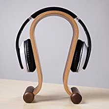 buy Skuleer(Tm)New Arrival Wooden Walnut Wood Gaming Headset Stand Headphone Display Stand Holder Hanger With Cloth Bag