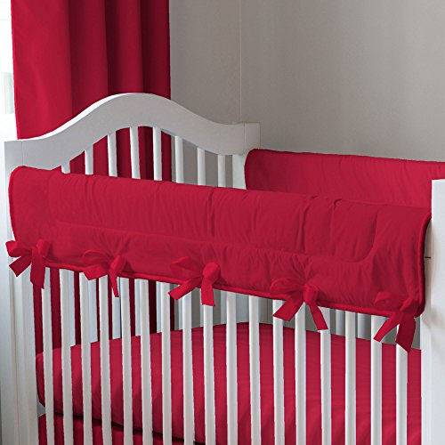Solid Red Crib Bedding front-1026640