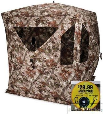 Ameristep Devastator COMBO EXTRAS hub pop up hunting ground blind NEW