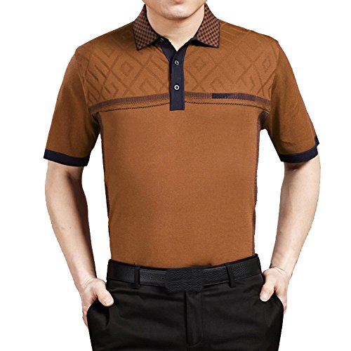 Sexyinlife Men'S Casual Short-Sleeve T-Shirt Size L Coffee back-299771