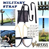 WOSS Military Schlingentrainer Black, with Built-In Door Anchor, Made in USA Sling Trainer