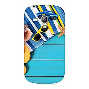 Delighted Cool Beach Print Back Case Cover for Galaxy S3 Mini