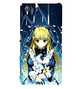 PRINTSWAG CARTOON GIRL Designer Back Cover Case for SONY XPERIA M5 DUAL