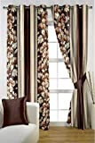 HOMEC Trendy Printed Curtain Set of 2 (Size - Door 46 X 84 inch/Color - Brown)