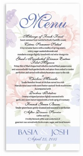 Baby Shower Menu Cards front-1069642