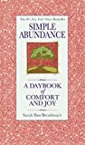 img - for Simple Abundance: A Daybook of Comfort and Joy book / textbook / text book