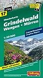 Grindelwald 17 Wengen / Mürren hallwag (r) wp (Wanderkarte)