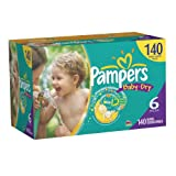 SAVE $9.17 - Pampers Baby Dry DiapersEconomy Pack Plus, Size 6, 140 Count $43.49