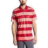 Small, Lt Crimson/Gym Red/White : Nike Golf Victory Bold Stripe Polo