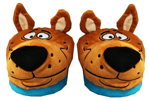 Cheap Scooby Doo Face Cartoon Adult Plush Mens Slippers (ETHB7002)