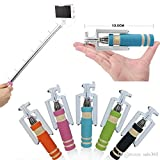 Akshaj Best Quality Universal Mini Selfie Stick With AUX Cable Hand Held Monopod For All SmartPhones (Colors May...
