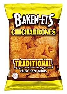 Baken-Ets Fried Pork Skins, Traditional, 3.5 Ounce (Pack of 6)
