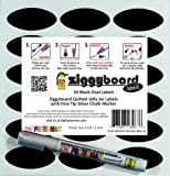 Ziggyboard Chalkboard Jelly Jar Quilted Crystal Canning Labels with Fine Tip Silver Chalk Marker 54 Oval Shape Stickers