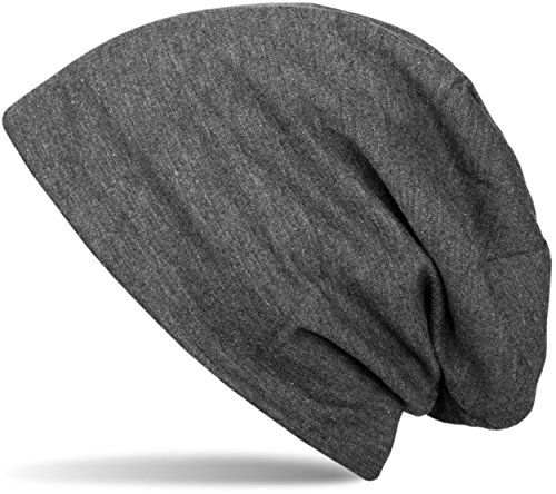 styleBREAKER klassische Unisex Beanie Mütze mit inliegendem Fleece Stoff, gefüttert 04024008, Farbe:Anthrazit meliert