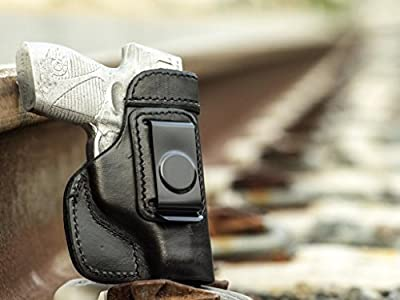OUTBAGS LOB2S-CZ75P07 Black Genuine Leather IWB Conceal Carry Gun Holster for CZ-USA CS75 P-07 9mm. Handcrafted in USA.