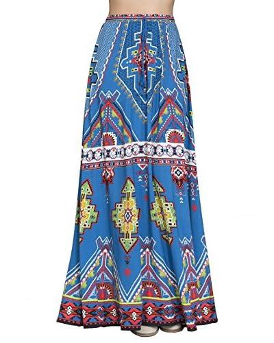 Flying Tomato Women's Multi Print Maxi Skirt