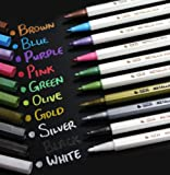 METALLIC PEN MARKER GOLD SILVER ALL COLOURS CARD MAKING HM6 (green)